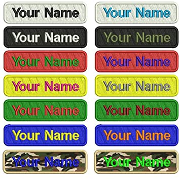 Personalizado Bordado Nombre parche, 2 piezas personalizado Militar número etiqueta personalizada logotipo ID para múltiples bolsas de ropa chaleco ...
