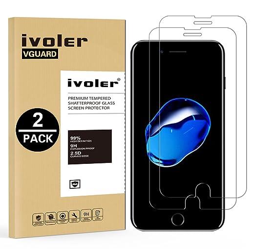 76 opinioni per [2-Pack] Pellicola Vetro Temperato iPhone 7 Plus, iVoler® ** [Protezione