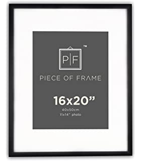 golden state art 16x20 black photo frame with off white color mat for