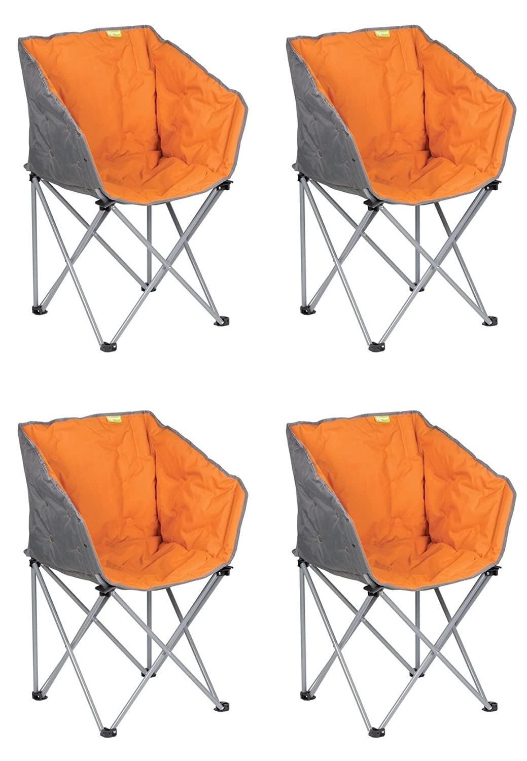 Generic 4 x Kampa Tub Stuhl – Burnt Orange