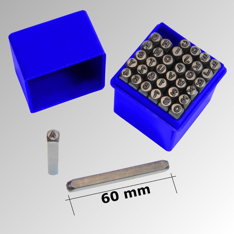 Iapyx Coffret de 36poinçons chiffres et lettres à frapper 5mm iapyx®