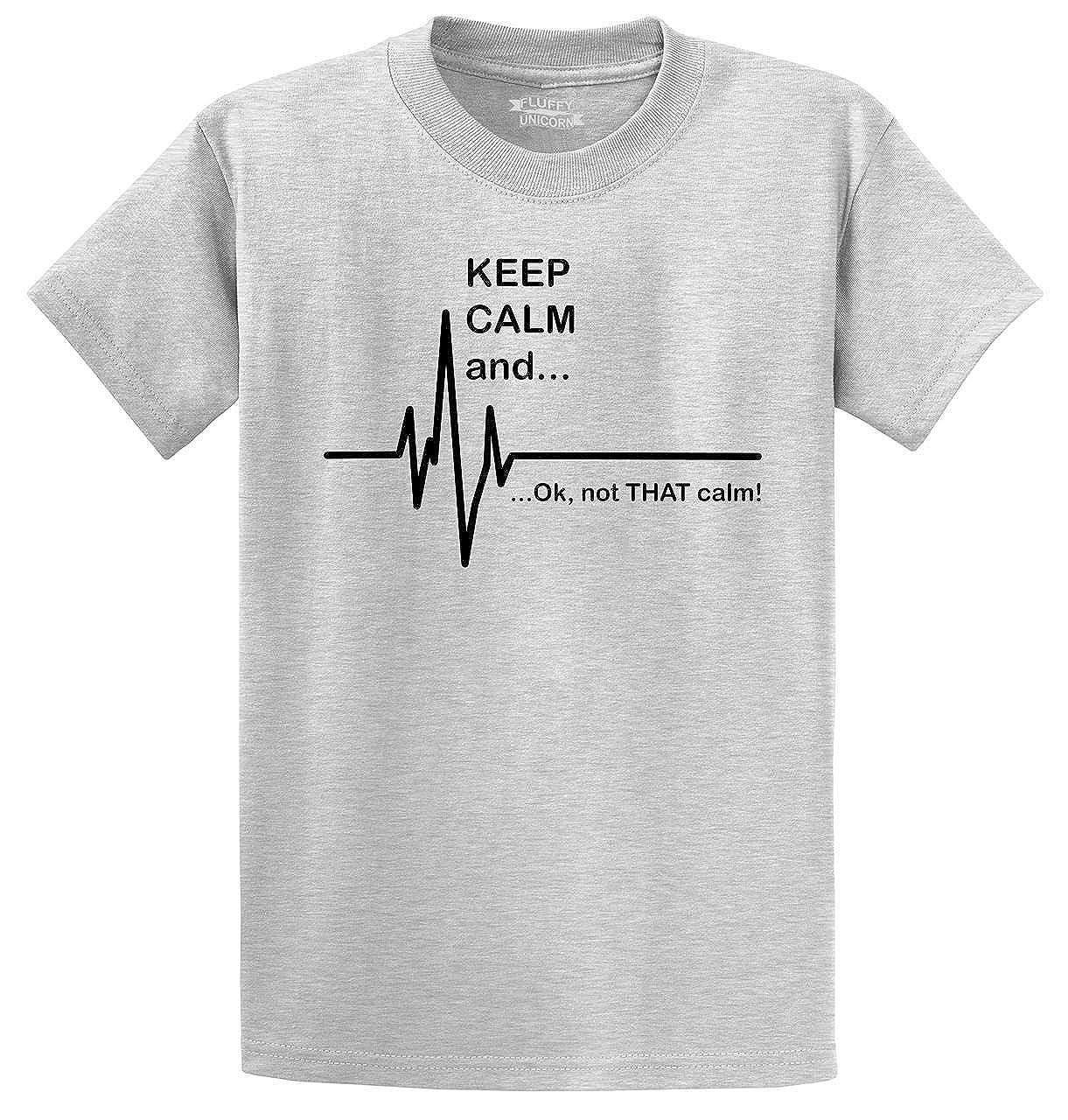 e6828cc6f Amazon.com: Comical Shirt Men's Keep Calm & Ok Not That Calm Funny  Paramedic EMT Shirt T-Shirt: Clothing
