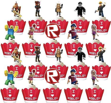 40 Mejores Imagenes De Roblox Roblox Cumpleanos Fiesta Cumpleanos Amazon Com Phoenix Party Juego De 40 Adornos Para Cupcakes Para Fiestas De Cumpleanos Roblox Toys Games