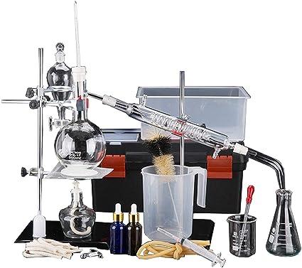 Equipo de destilación química de laboratorio Purificación Juego de ...