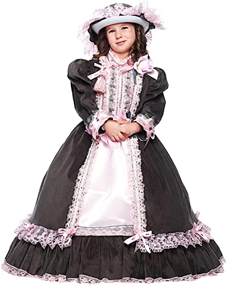 sconto grande liquidazione colore veloce COSTUME di CARNEVALE da DAMA DELL'800 BABY vestito per ...