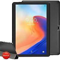 """YOTOPT 4G LTE Tablet de 10.1"""" Full HD, Android 9.0, 4GB de RAM y 64 GB de Memoria Tableta Dobles SIM y TF, GPS WiFi Soporte (Negro)"""