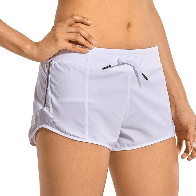 TALLA 42. CRZ YOGA Pantalones Cortos Running Mujer con Bolsillo Trasero para Gimnasio-6cm