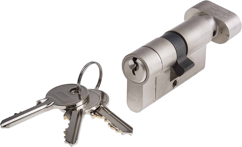 30//50mm Euro Profile Satin Chrome Door Lock Anti Snap Cylinder and Turn 80mm