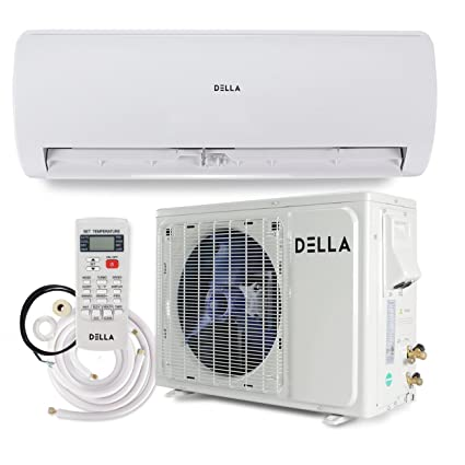 amazon com della ductless mini split wall mount ac air conditioner rh amazon com Heat Pump Air Handler Window Air Conditioner Heat Pump