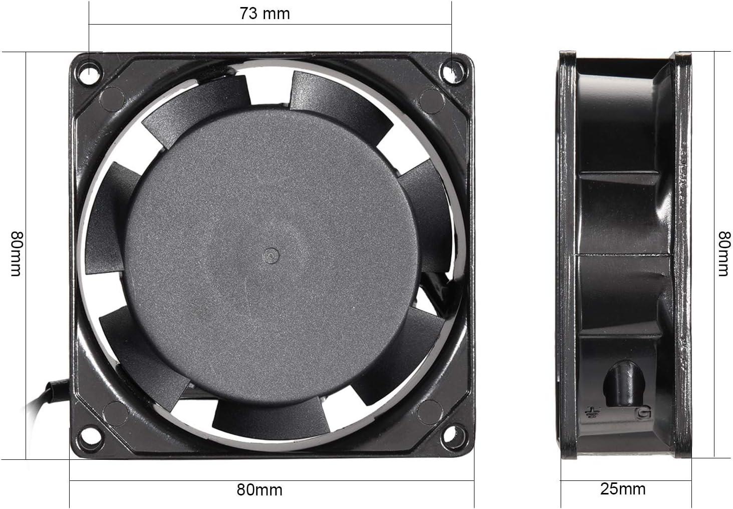 NA Cooling Fan 80 mm x 80 mm x 25 mm SF8025AT AC 220V-240V 0.07A Double Ball Bearings