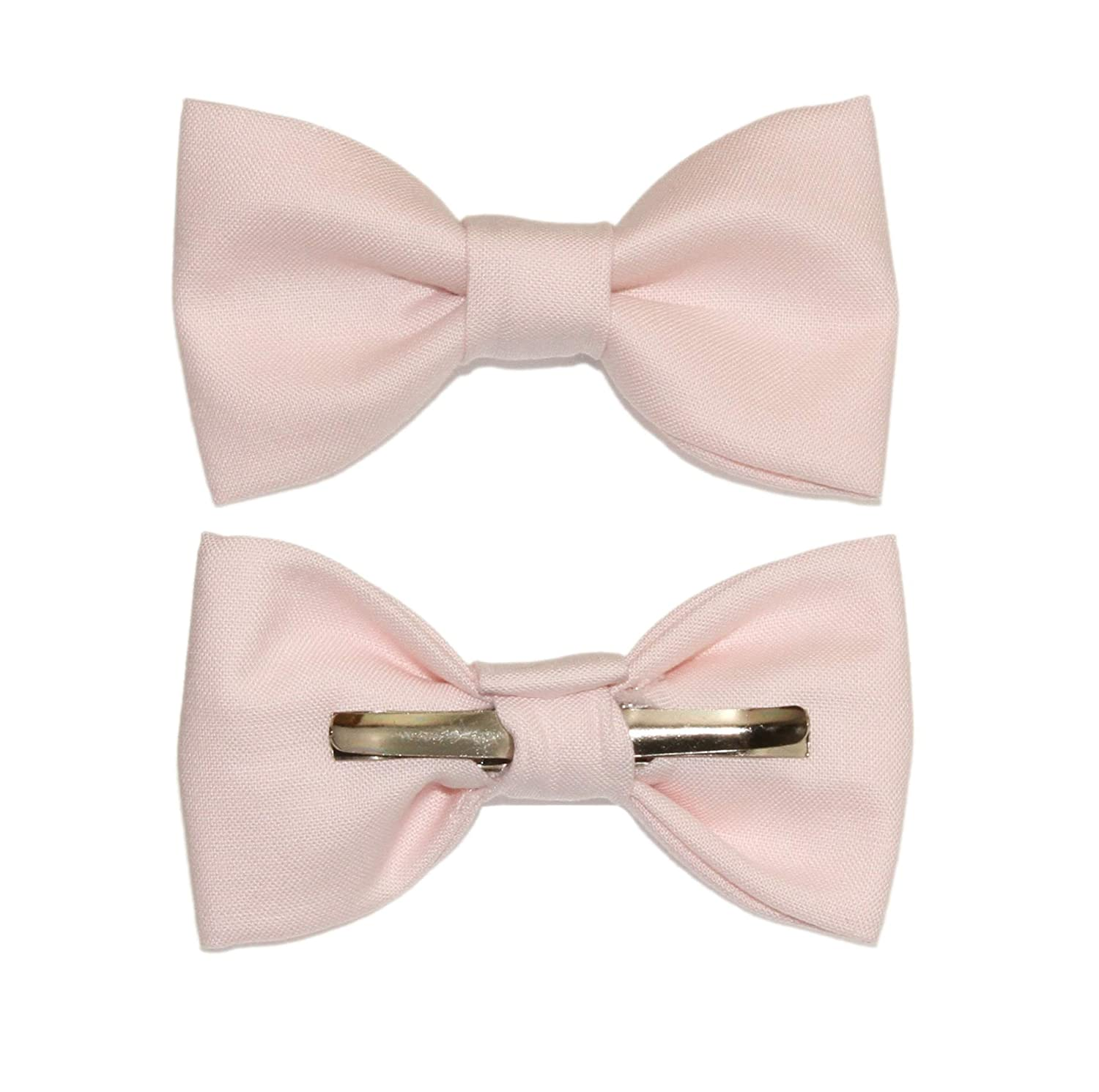 Toddler Boy 4T 5T Pearl Pink/Pale Pink Clip On Cotton Bow Tie amy2004marie 113288