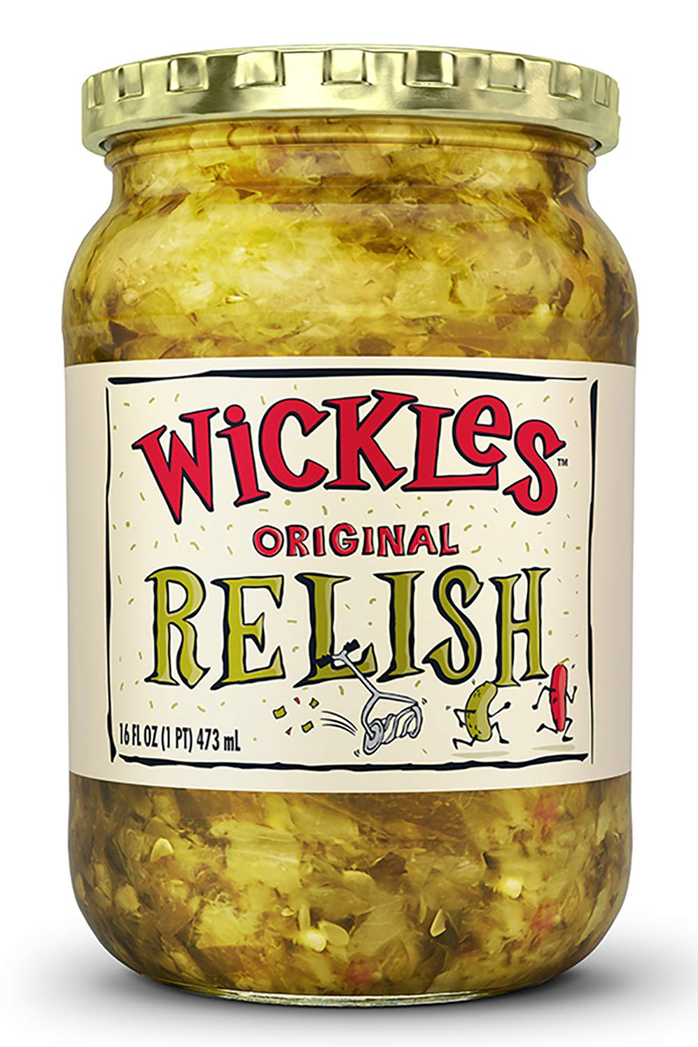 Wickles Original Relish, 16-ounce Jars (Pack of 12) by Wickles