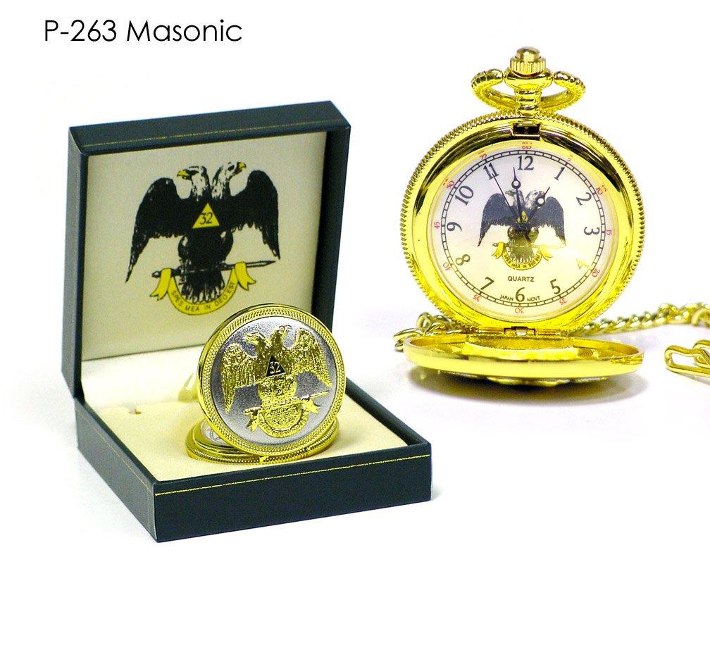 ساعت جیبی طلایی The Masonic Exchange | ساعت جیبی طلایی The Masonic Exchange