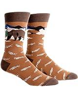 Sock It to Me Men's Crew Socks Bear Necessities  Size 7-13