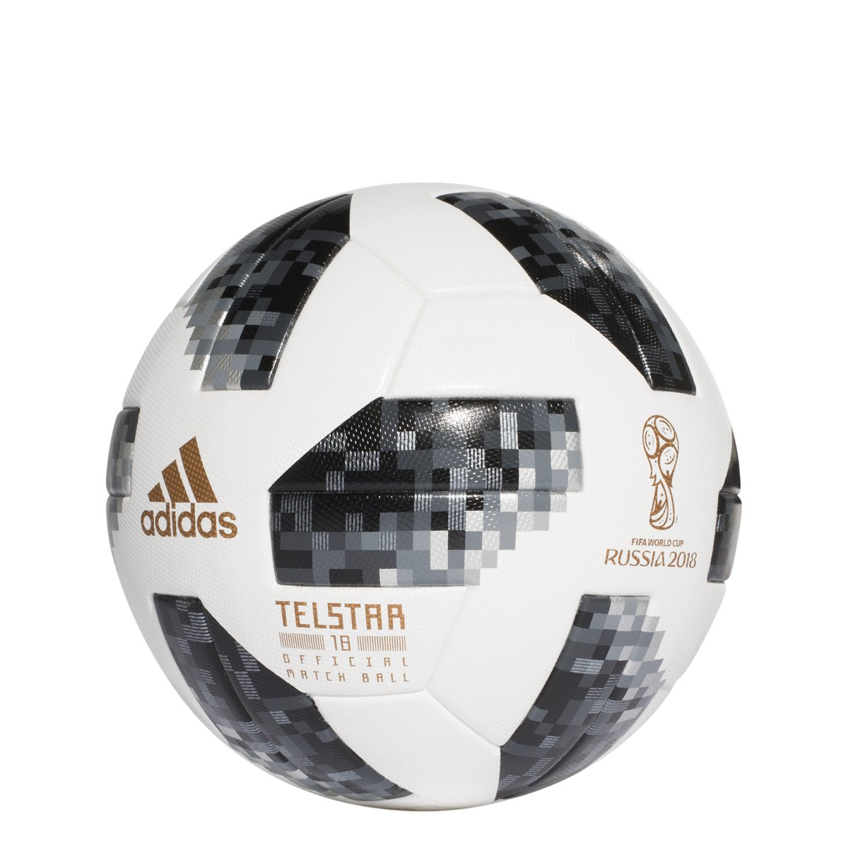 Amazon.com   adidas World Cup 2018 Omb Soccer Ball Pro White Black   Sports    Outdoors 3f12ca5da7b0a
