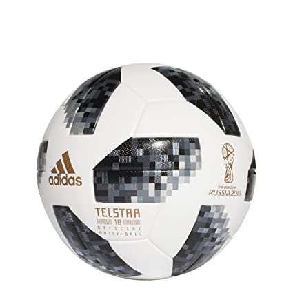 Amazon.com   adidas World Cup 2018 Omb Soccer Ball Pro White Black   Sports    Outdoors 3fae114907b7b