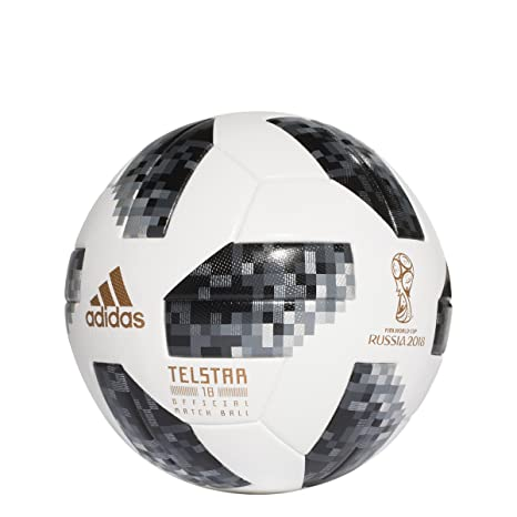 Amazon.com   adidas World Cup 2018 Omb Soccer Ball Pro White Black ... 7ee55a675e0bb