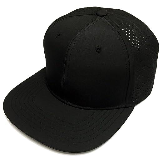 Mens 2 Tone Flat Bill Punching Mesh Snapback Cap Adjustable Cool Baseball Cap  Hat Trucker ( c33827a738a