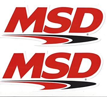 Amazoncom MSD Ignition Racing Decals Stickers  Inches Long - Racing decals