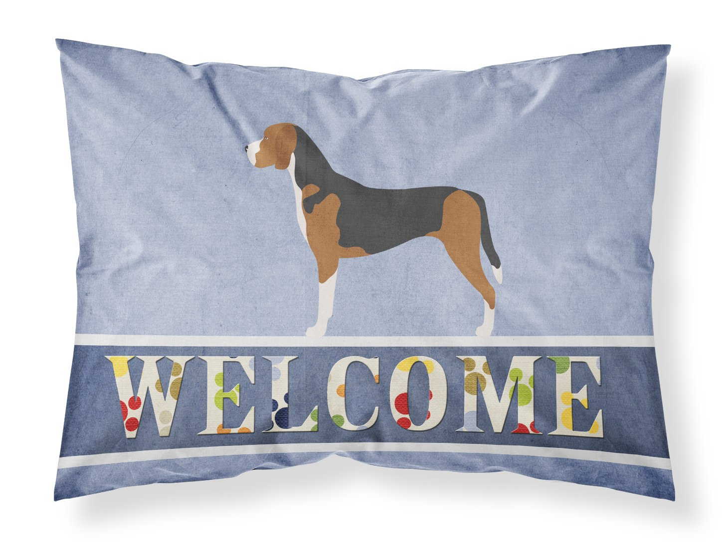 Standard, Carolines Treasures Bavarian Mountian Hound Welcome Pillowcase