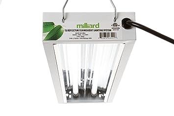 milliard 2ft2bulb t5 grow light fixture t5 bulbs included