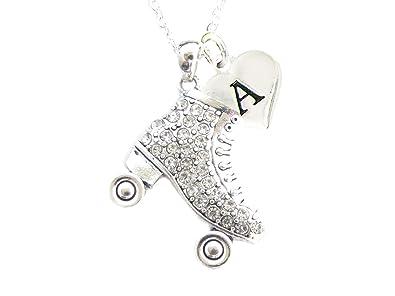 Amazon.com: Custom para patines de vidrio cadena de plata ...