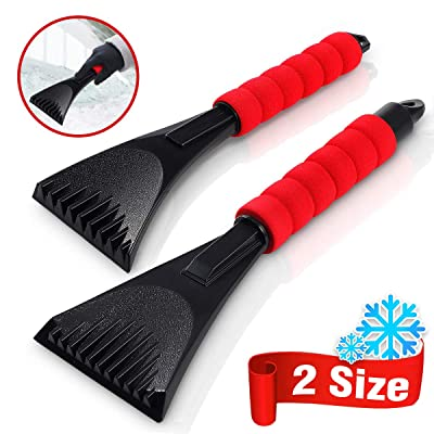 Audew Premium Ice Scraper for Car Windshield, Magical Ice Scraper with Foam Handle,Heavy-Duty Frost and Snow Removal Tool for Car Windshield and Window,Scratch-Free(2 Pack): Automotive