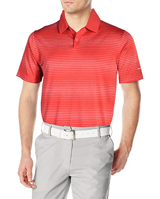 893d037bcff Image Unavailable. Image not available for. Color  Nike Men s Dri-Fit  Lightweight Innovation Stripe Polo ...