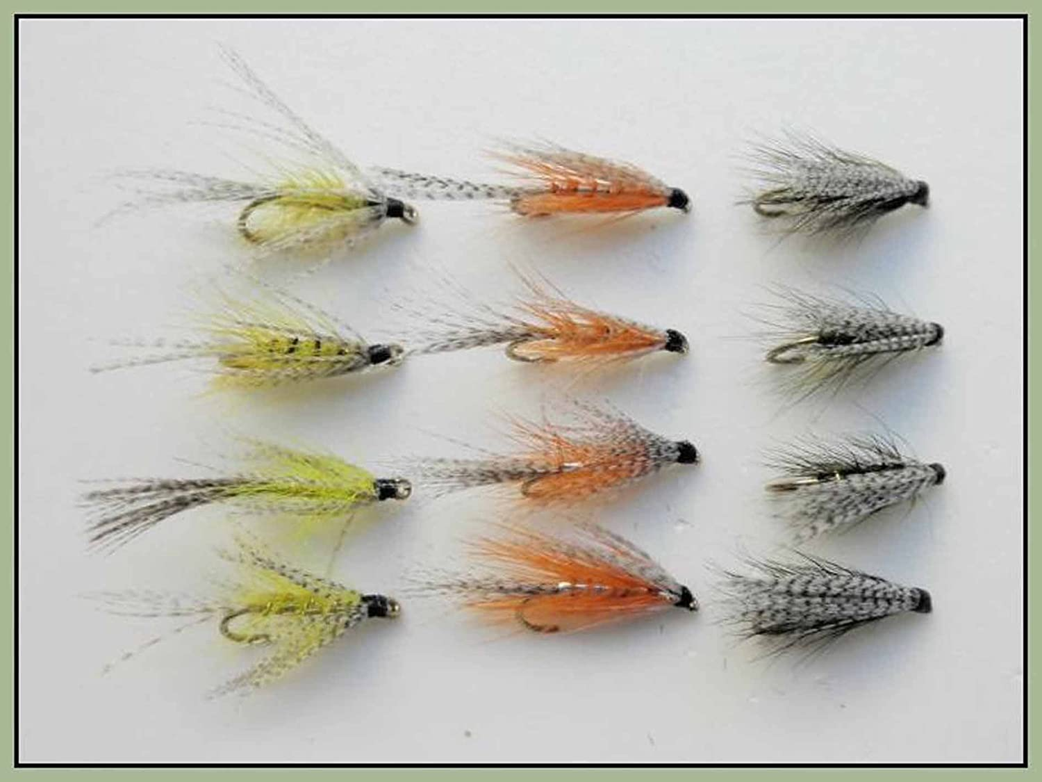 Size 10//12, Wet Fishing Flies 12 Pack Hares Ear March Brown /& Greenwell