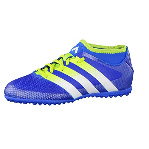 great fit 66bc3 77c3b Adidas Ace 16.3 Primemesh TF J, Chaussures de Football Mixte Garçon,  Multicolore-Bleu