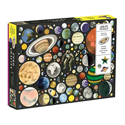 Galison Zero Gravity 1000 Piece Jigsaw Puzzle for Adults and Families, Outer Space Puzzle with Planets and Solar System: Galison, Giles, Ben: Toys & Games