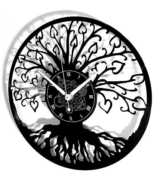 Reloj de Vinilo con Grabado Vintage Hecho a Mano instantáneo ...