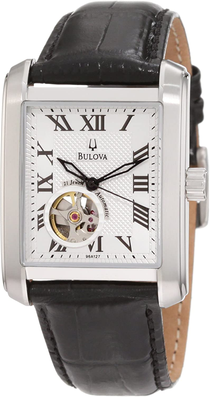Bulova Men s 96A127 BVA-Series 160 Leather Strap Watch