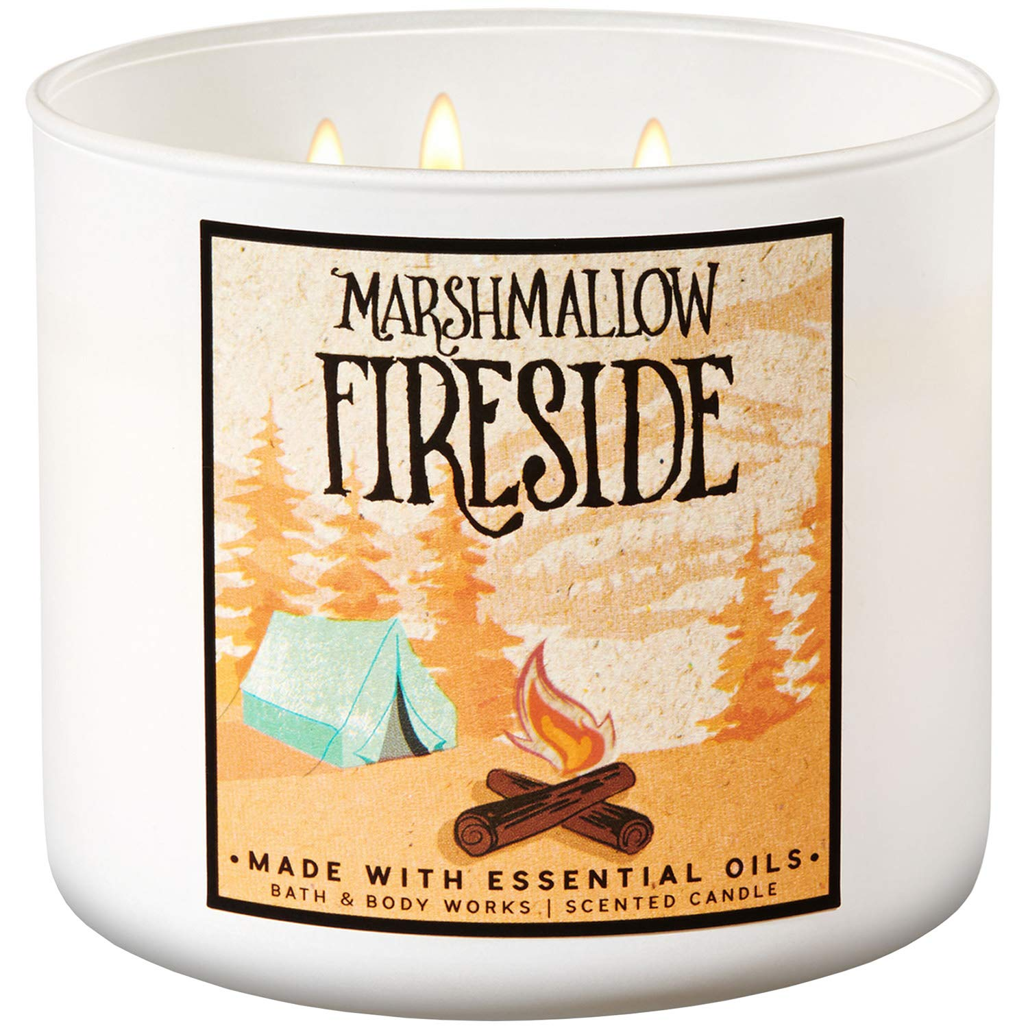 Bath and Body Works 2018 Holiday Limited Edition 3-Wick Candle (Marshmallow Fireside) by Bath & Body Works
