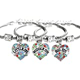 Amazon Price History for:Boosic Little Sis Middle Sis Big Sis Crystal Heart Charms Bracelets for Women, Pack of 3