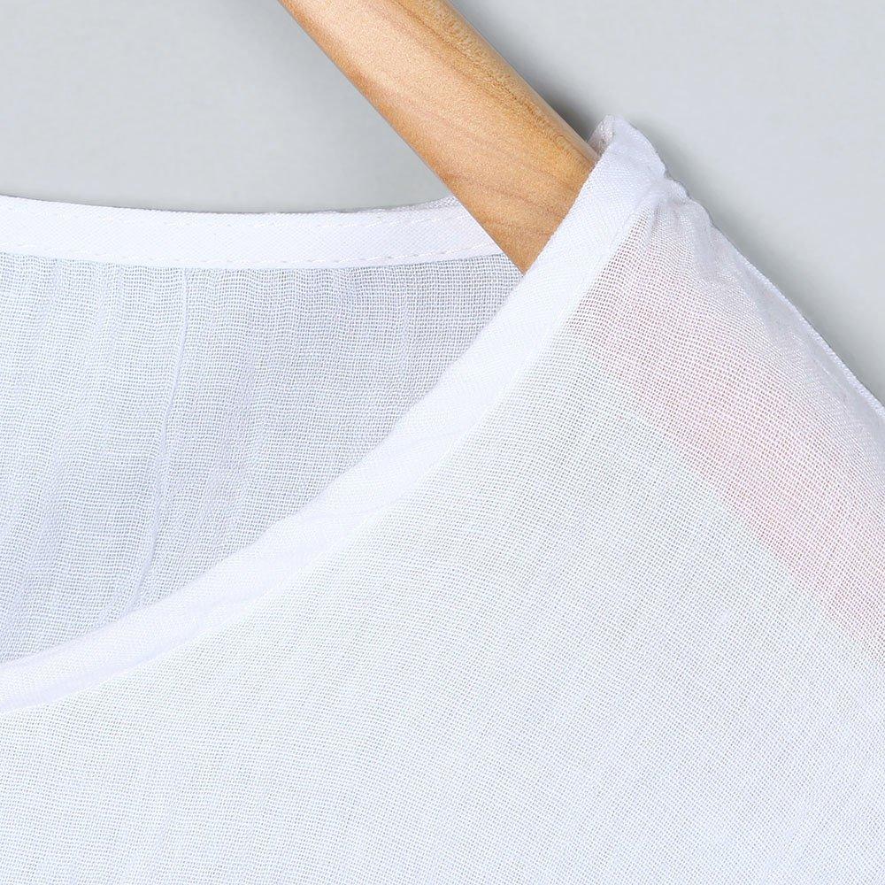 iLOOSKR Women Bat Sleeve Short Sleeve Shirt Casual Loose Top T-Shirt Pullover(White,XXXL) by iLOOSKR (Image #4)