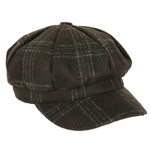 Bornbayb Womens Retro British newsboy Cabbie Cap Beret Painter Hat ... 16b0298def7f