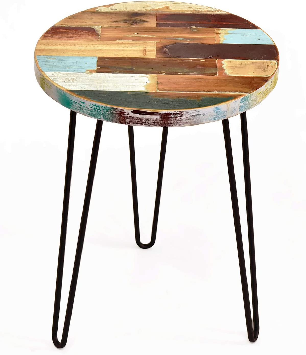 - Recyceltes Holz Large Round Table Coffee Table: Amazon.de: Küche