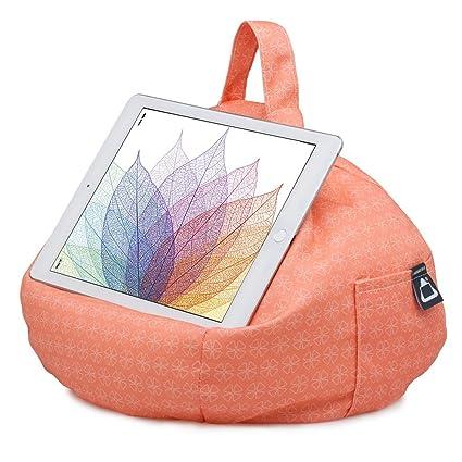 iBeani puf cojín Soporte/Soporte para iPad y Tablet, Color Coral