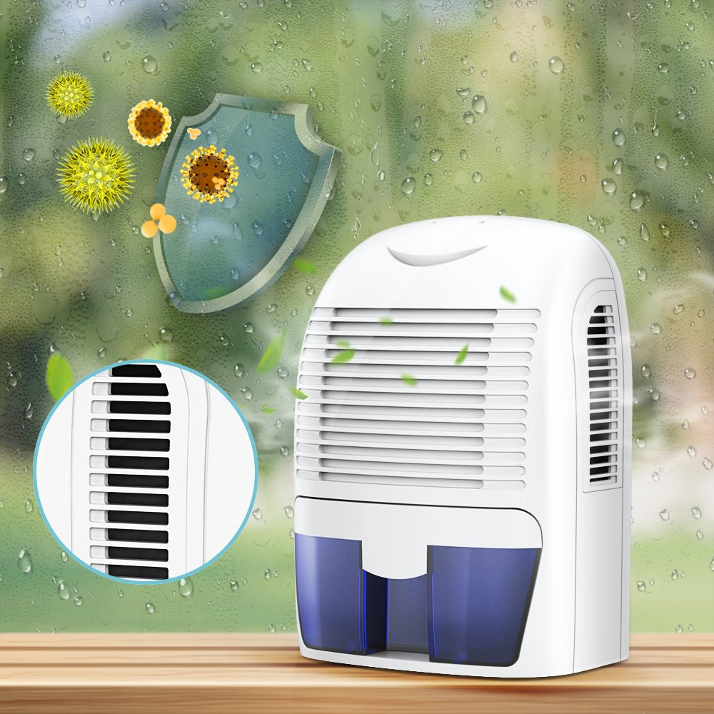 Hysure 1500ml Dehumidifier, 2200 Cubic Feet, Compact and Portable for Damp Air, Mold, Moisture in Home, Kitchen, Bedroom, Basement, Caravan, Office, Garage by Hysure (Image #6)