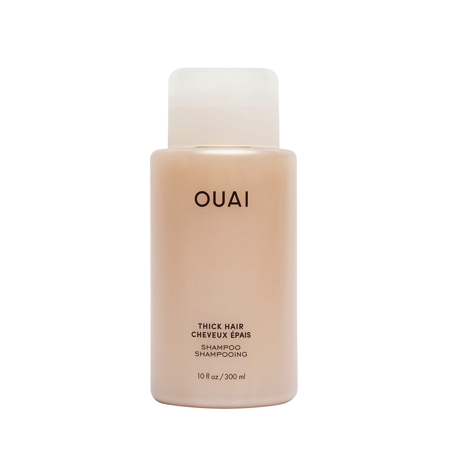 OUAI Thick Shampoo. Fight Frizz and Nourish Dry, Thick Hair with Strengthening Keratin, Marshmallow Root, Shea Butter and Avocado Oil. Free from Parabens, Sulfates and Phthalates. 10 oz