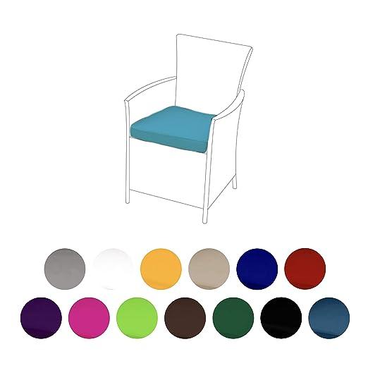 Turquesa - Cojín para silla de ratán de jardín exterior ...