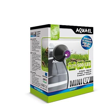 Lámpara UV a led, mini de Aquael, esterilizadora, lámpara germicida, para acuario