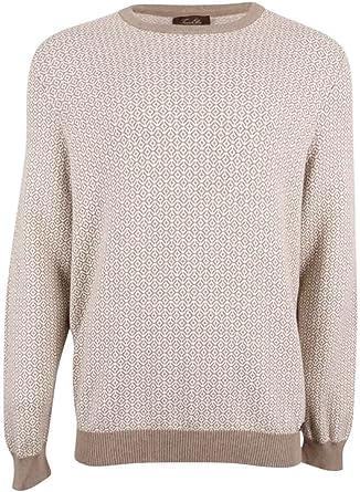 Tasso Elba Mens Faux Suede Knit Sweater