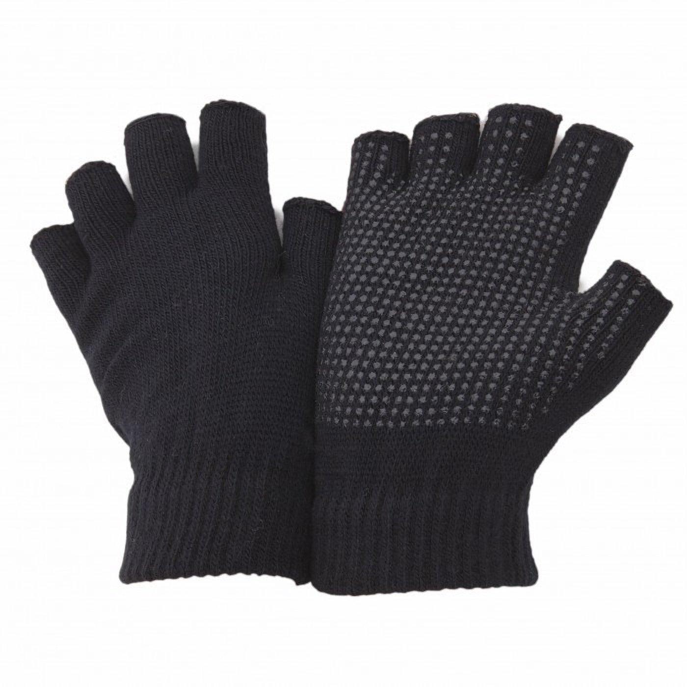 Черные перчатки под