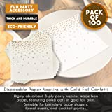 Gold Cocktail Napkins - 100-Pack Disposable Napkins