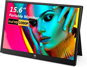 Portable Monitor for Laptop, Z-Edge 15.6 Inch USB C Laptop Monitor, Full HD 1920x1080p IPS Screen Portable Gaming Monitor 178° Full View, Plug-n-Play for Laptop PC Mobile PS4 Xbox One Switch