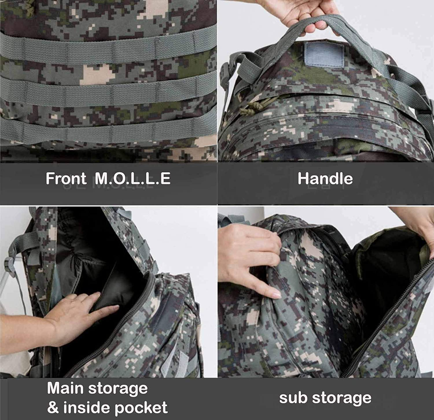 Korean Ver. Molle Bag Backpacks for Outdoor Hiking Camping Military Backpack for men Tactical Backpack JIEUM