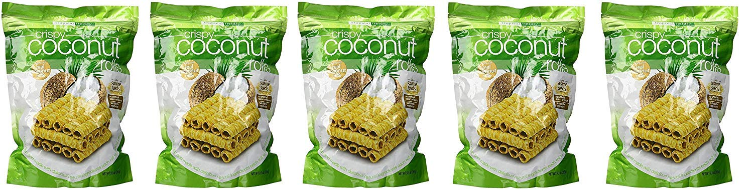 Tropical Fields Crispy Coconut Rolls with Sesame Seeds, 2 Pack (9.3 oz)