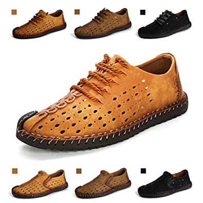9f5ba5bc8f4f ENLEN BENNA Men s Breathable Casual Shoes Men Leather Sandals Closed Toe  Summer Loafers Sneakers